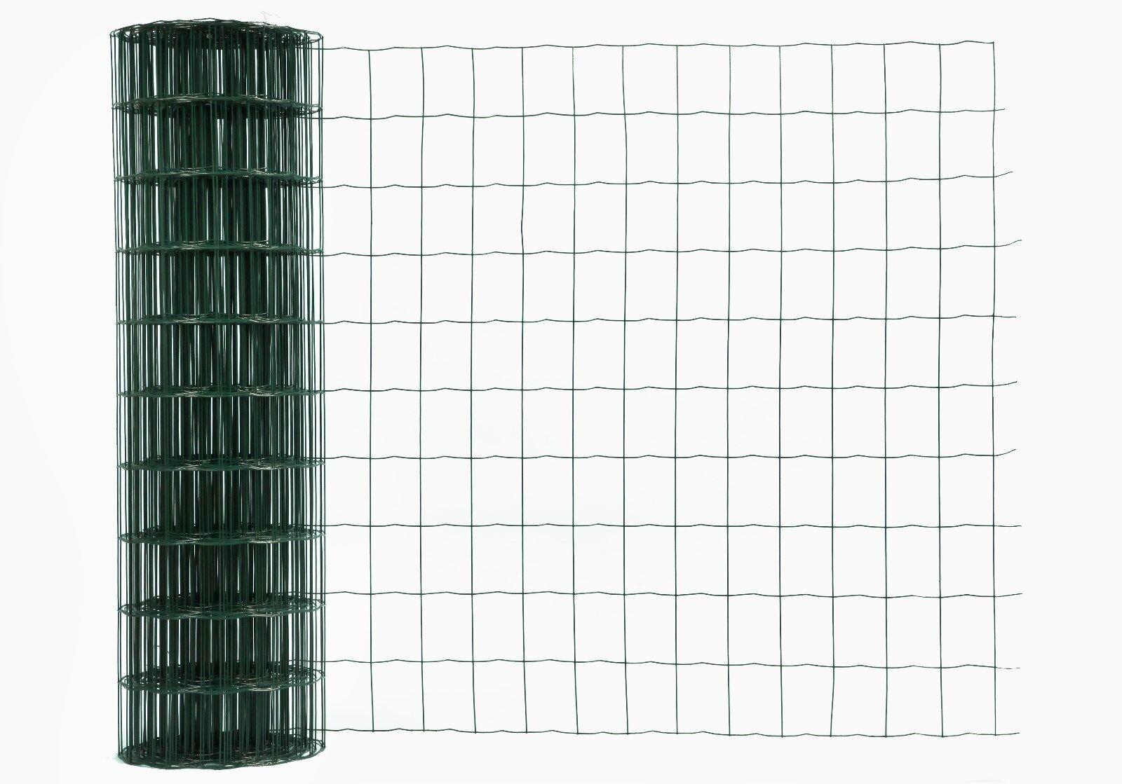 Gitterzaun, Gartenzaun, Schweißgitter grün, Masche 75x50 mm, Rolle 1,5x25 m