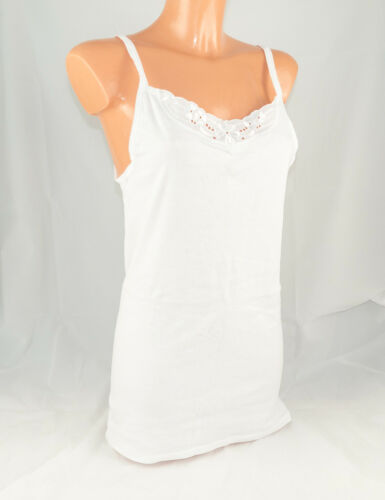 Triumph Damen Unterhemd aus Baumwolle NEU MP-56643 Shirt 01 Weiß