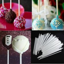 100pcs Chocolate Cake Cookie Lollipop Lolly Making Candy Sticks Sucker Stick