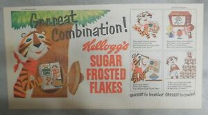 Kellogg's Cereal Ad:Tony The Tiger Great Combination from 1950's 7.5 x 15 inches