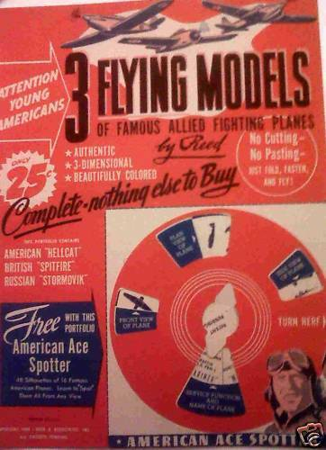 3 3 3 FLYING MODELS OF FAMOUS ALLIED FIGHTING PLANES 9749ae