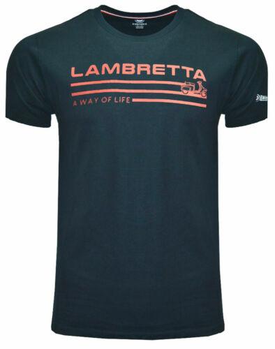 Lambretta t-shirts Imprimé à manches courtes un mode de vie Homme Rétro Coton UK S-4XL