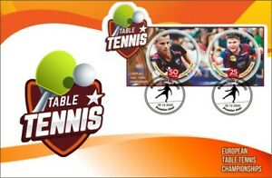 Stamps Table tennis FDC perforated