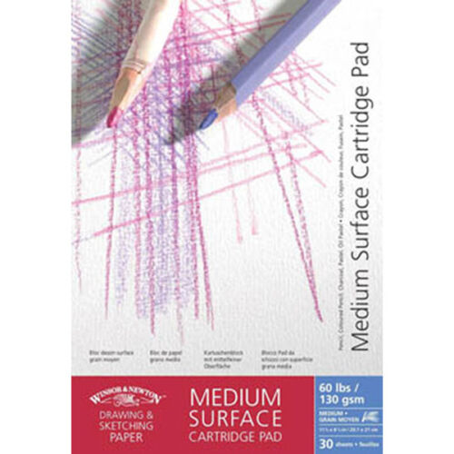 Winsor /& Newton Medium Surface Cartridge Pads 130gsm A3 Artists Sketching Paper