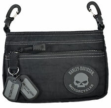Harley-Davidson® Women's Willie G Rally Hip Black Nylon Purse Bag RL7251S-GRYBLK
