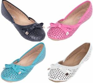 fdc6b3c09 Tory K Women Ballerina Ballet Flats /w Bow, Comfy Ladies Slip Ons ...