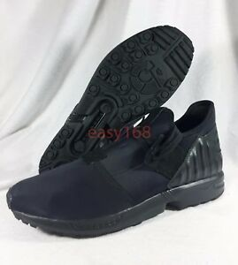 ce6bc756407fb New Adidas Originals Mens Sz 13 ZX Flux Plus Black Out Running Shoes ...