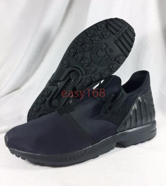 low priced eb68a d5849 New Adidas Originals Mens Sz 13 ZX Flux Plus Black Out Running Shoes S79060  NDM