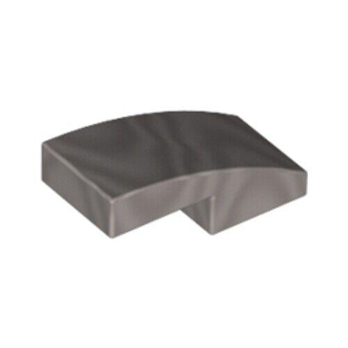 Lego 10x Genuine Silver Metal Shiny Grey 1x2x2//3 Tile Bow Arc 6066028 17134 NEW