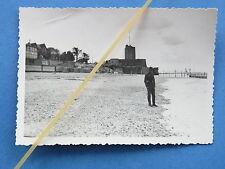 Foto Frankreich 1940 Deutscher Soldat am Strand von Fouras nahe La Rochelle