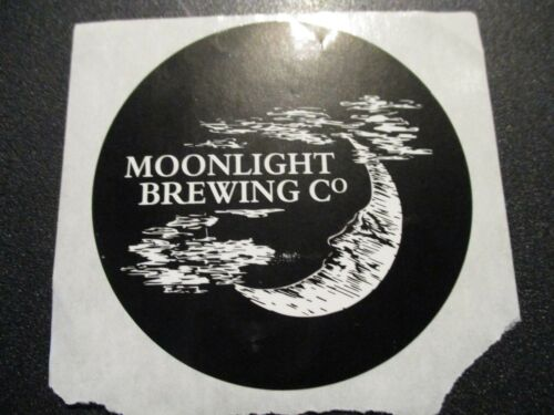 MOONLIGHT BREWING death and taxes california STICKER decal craft beer brewery