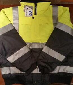 Hi-Vis-Jacket-Waterproof-Y-N-Worksense-Pilot-Rain-Jacket-OW9686525-New