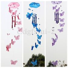 Butterfly Mobile Wind Chime Bell Garden Ornament Indoor Window Hanging Decor New