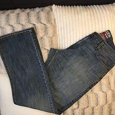 Levis Denizen Mens Jeans Slim Cut Straight Leg Blue Sz 34 X 32