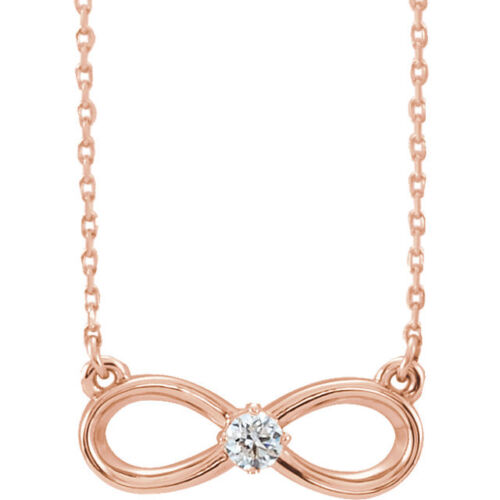 "Diamond InfinityInspired Bar 18"" Necklace In 14K Rose Gold 110 ct. tw."