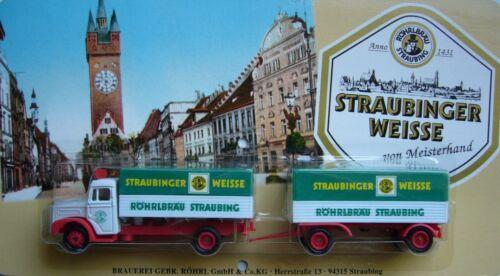 Röhrlbräu Straubing Straubinger Weisse + MAN Diesel F8 Hängerzug *