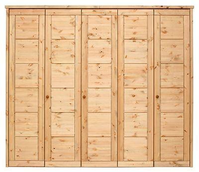 Massivholz KLEIDERSCHRANK Schlafzimmerschrank Landhaus Holz Kiefer massiv geölt