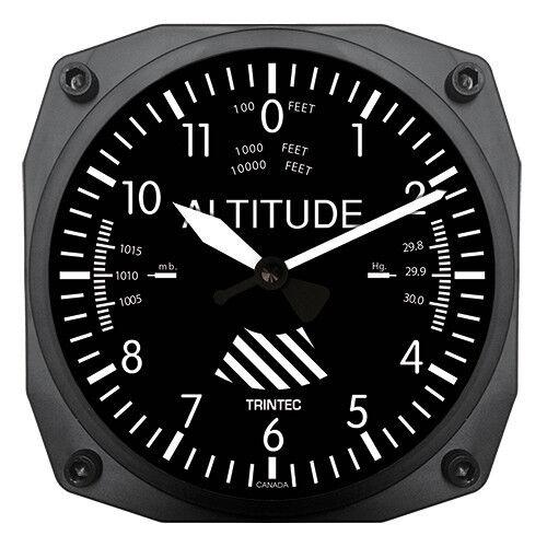 "Brand New Trintec 6/"" Altimeter Instrument Style Clock 9060 A Great AviationGift"