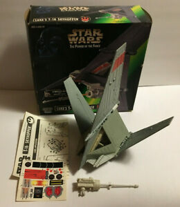 Vintage Star Wars Power of The Force Lukes T-16 Skyhopper Vehicle w/ Box Kenner