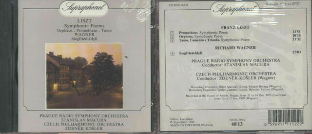 Liszt Symphonic Poems Orpheus Prometheus Tasso Wagner Siegfried-Idyll Supraphon