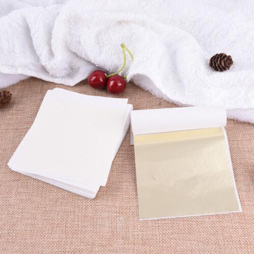 DIY 100 Blatt Goldfolie Blatt Vergoldung Handwerk Handwerk Papier DekorationEYE