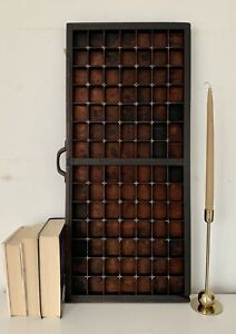 Vintage-Letterpress-Wooden-Printers-Tray-98-Squares-Refurbished-Good-Condition