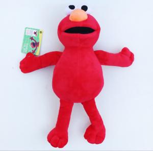 "ccd7bc82d7c 8"" NEW Sesame Street ELMO Beanie Plush Toy Soft Stuffed Doll Teddy ..."