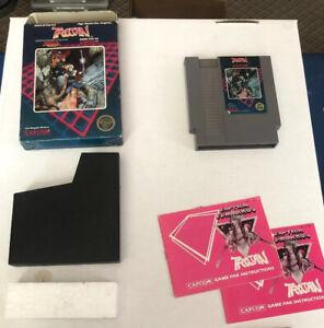 Trojan-Nintendo-NES-Complete-In-Box-CIB-w-Manual-5-Screw-Cart-Hang-Tab