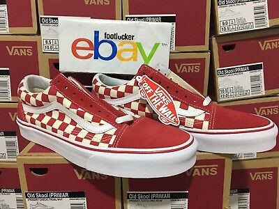 Vans Old Skool Damier Rouge Checker Primary Supreme Toutes Tailles 4 13 Limited | eBay
