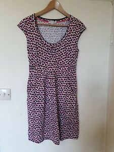 Boden-Abstract-Print-Tinic-Dress-With-Pockets-Size-10-R