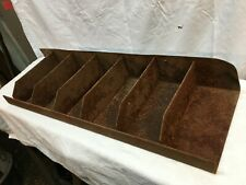 Industrial Salvage Metal 5 Bin Drawer Parts Tray Box Organizer