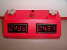 ZMFII Digital Chess Clock made in USA- Red w/ Red LED display NEW