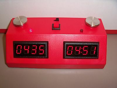 ZMFII Digital Chess Clock made in USA Red w// Red LED display NEW