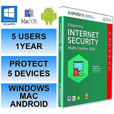 Kaspersky Internet Security Multi Device 2016 5 Benutzer/PC 1 Year