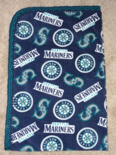 MLB PRO BASEBALL MARINERS CRIB//NAP//TODDLER FLEECE BLANKET//HANDMADE