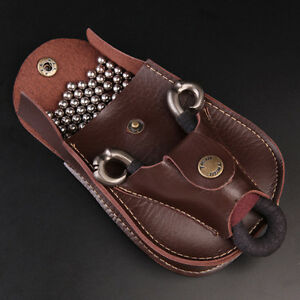 HOT-Leather-Case-Waist-Bag-Pouch-for-Catapult-Slingshot-Steel-Balls-Ammo-ME