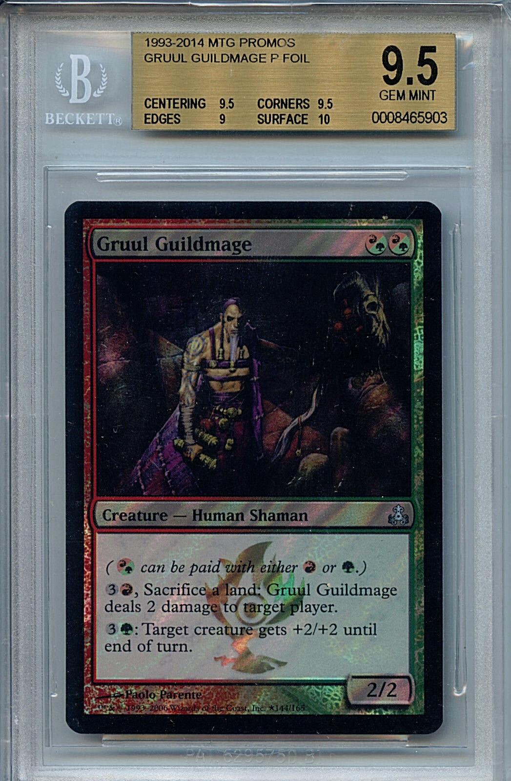 MTG Gruul Guildmage BGS 9.5 Gem Gem Gem Mint MTG Foil Promos 5903 Amricons 1d5a72
