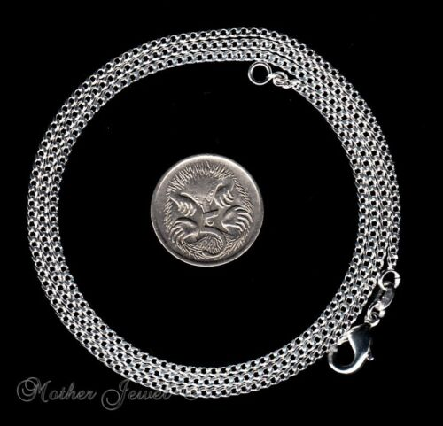2MM THICK STERLING SILVER FILL CURB CHAIN 60CM MENS LADIES BOYS GIRLS NECKLACE