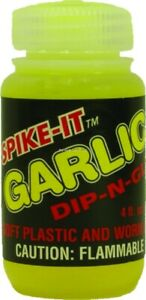NEW-Spike-It-43001-4oz-Dip-N-Glo-Soft-Plastic-Lure-Dye-Cht-Garlic-Scent