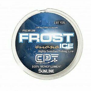 2 Spools NEW Clam CPT Frost Ice Mono 4lb Metered Orange//Clear 110 Yard 10980