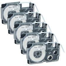 KL-820 KL-8100 KL-8200 KL-C500 KL-P1000 sostituisce XR-9ABK vhbw Cassetta Nastro Cartuccia 9mm per Casio KL-7400 KL-780 KL-750E XR-9ABK1.