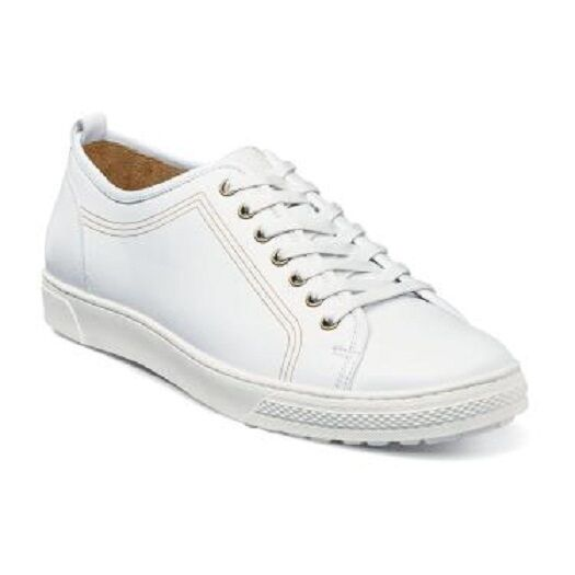 Florsheim Men's Forward Plain Toe Lace Up Sneaker White 15131-100