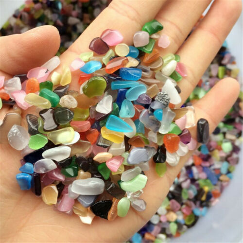 Opal Candy Color Ore Crushed Gravel Stone Chunk Lots Degaussing Cheaply worn