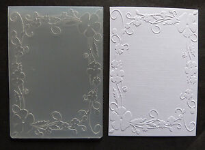 Crafts-Too-CTFD4018-C6-Embossing-Folder-Flowers-Frame
