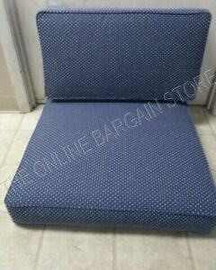 Details about Frontgate Metropolitan Outdoor Sofa chair Cushions SUNBRELLA  blue dot pom 25x29