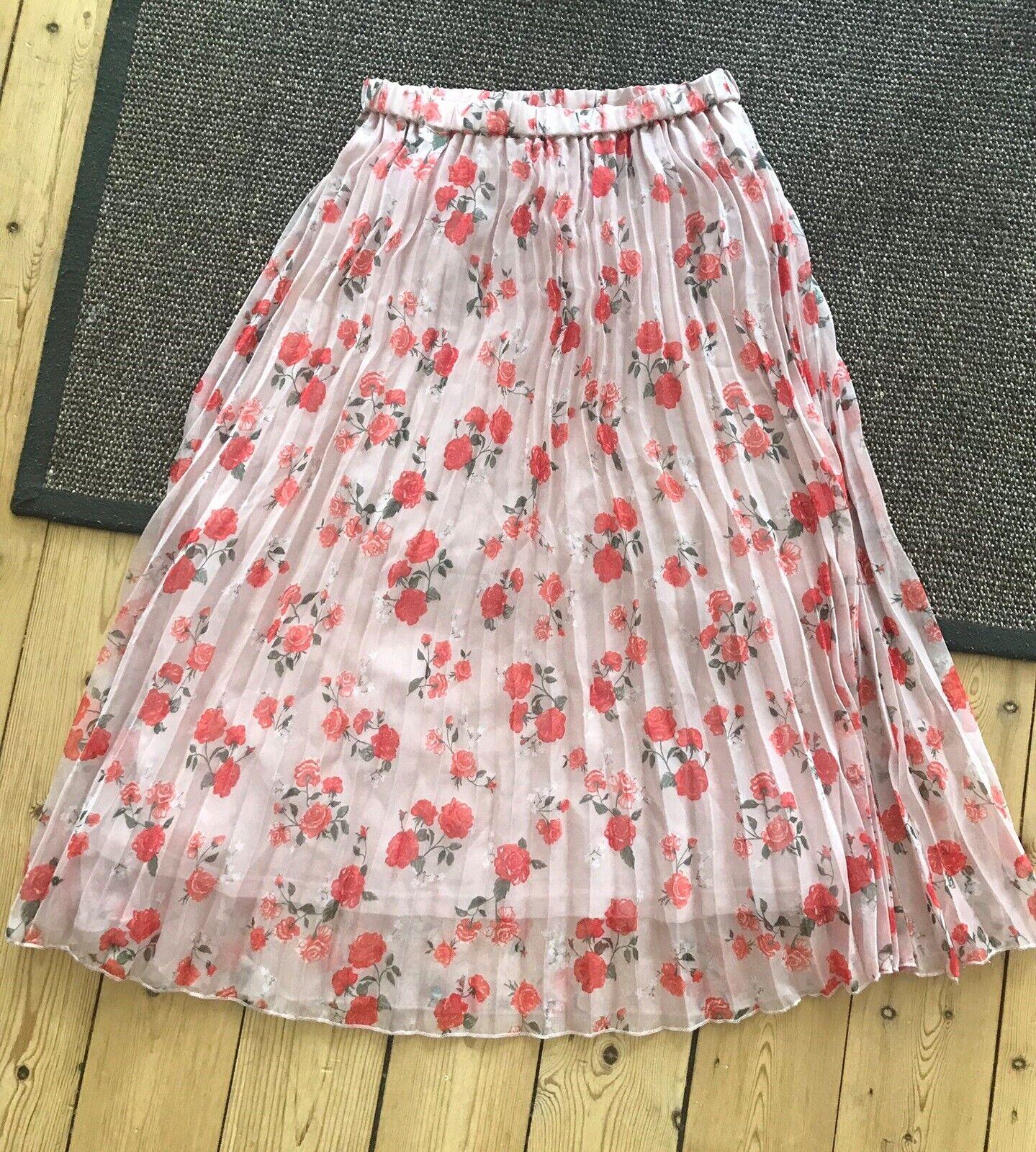Plisseret nederdel , str. 38, H&M