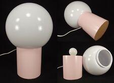 MID CENTURY MODERN style ORB table lamp ATOMIC globe light BUBBLE GUM PINK retro