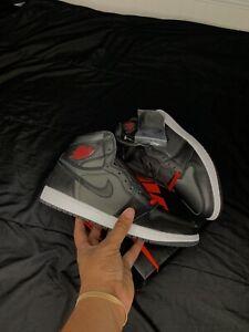 Nike-Air-Jordan-1-Retro-High-OG-Black-Satin-Gym-Red-Men-s-555088-060-Size-11-5