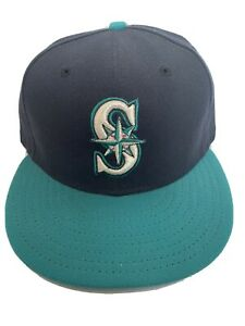 New-Era-59fifty-Seattle-Mariners-Fitted-Hat-Size-7-See-Pic-EUC-MLB-Baseball
