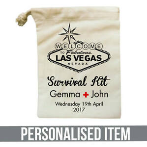 Image Is Loading Personalised Hangover Survival Kit Bag Birthdays Hen Do